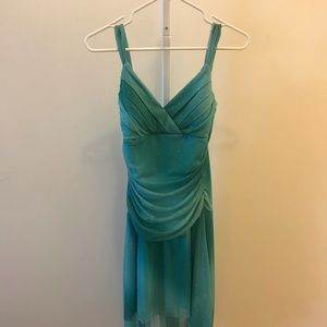 Shimmery turquoise dress